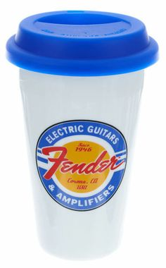 Original Fender Thermal Porcelain Cup with Silicone Lid #fender #gifts #thomann