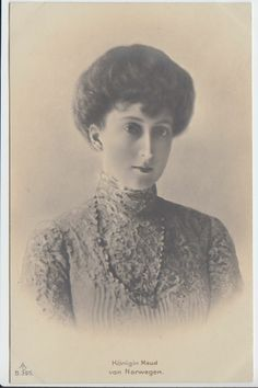 Charming Queen Maud of Norway - Princess of Great Britain and Ireland - RARE pcd