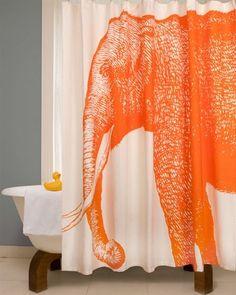 Thomas Paul Elephant Shower Curtain - Alcazar