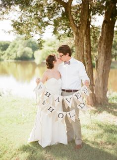 Darling couple shot. Photo by Amanda Watson Photography. www.wedsociety.com #wedding #photography