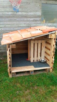 DIY Dog House Ideas Your best friend will absolutely love # . - DIY Dog House Ideas Your best friend will absolutely love you - Pallet Dog House, Dog House Plans, House Dog, Dog House From Pallets, Luxury Dog House, Recycled Pallets, Wood Pallets, Portable Dog Kennels, Canis