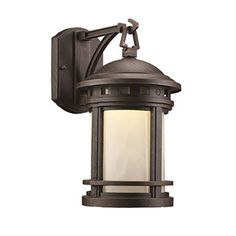 Trans Globe Lighting Boardwalk LED-40370 Outdoor Wall Lantern Rust - LED-40370 RT
