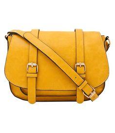 Mustard Satchel Crossbody Bag