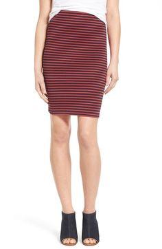 MADEWELL 'Poppy' Stripe Ponte Skirt. #madewell #cloth #