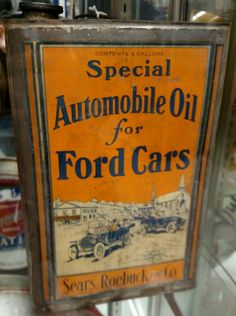 Sears & Roebuck Ford Auto Oil Can