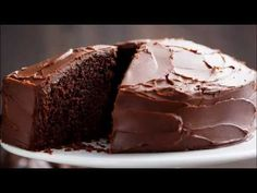 The most amazing, ONE BOWL, BEST Fudgy Chocolate Cake is so rich and decadent, with the perfect balance of fluffy and fudgy! Chocolate Yogurt Cake, Chocolate Fudge Cake, Chocolate Desserts, One Layer Chocolate Cake Recipe, Vegan Chocolate, Greek Yogurt Cake, Brownies, Cake Recipes, Dessert Recipes