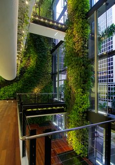 158 Cecil Street in Singapore. Green architecture at its finest, incorporating vertical gardens into the design to breathe new life into the building and create beautiful, meaningful space throughout...