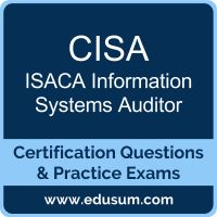 EDUSUM.com is one of the best online practice exams to start your preparation for ISACA CISA certification online practice exams and detailed syllabus. http://www.edusum.com/isaca/cisa-information-systems-auditor