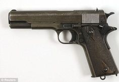 Clyde Barrow was carrying the Colt.45 Model 1911 Government Model Semi-auto pistol, right, in his waistband