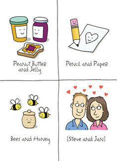 Like Peanut Butter and Jelly Happy Anniversary Card