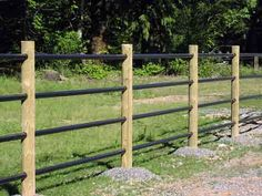 Lodgeple with Powdercoated Rail Pasture Fencing, Horse Fencing, Farm Fence, Dream Stables, Horse Stables, Dream Barn, Agricultural Fencing, Pipe Fence, Horse Arena