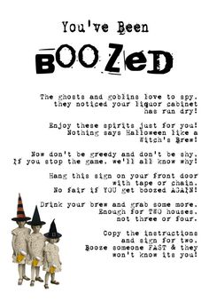 HALLOWEEN FREEBIE You've Been Boozed FREE by BluegrassWhimsy