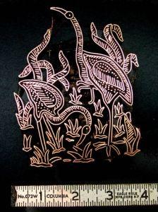 Cranes Handmade Indonesian Copper Tjaps (aka Caps, Stamps) Crane, Fiber Art, Stamps, Copper, Artist, Handmade, Fashion, Seals, Moda
