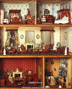 Doll's house known as Mrs. Bryant's Pleasure. Surrey, England, late 19th century