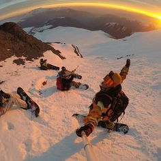 GoPro Featured Photographer and Athlete - @timhumphreys  About the Shot - #Sunset Shredding in Chile: Sometimes after a day of riding you and your crew just need to chill out for a second. While taking a break from this #adventure in #Chile we found a spot and decided to watch this epic sunset. Being up in the mountains, it's easy to appreciate what our amazing #planet has to show us! After the sun went down, we all bombed down the mountain to our rendezvous point.