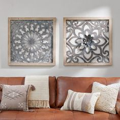 Take a striking departure from paintings and prints with our square Heritage Wall Art. These pieces creatively balance substantial wooden frames with the intricate, open patterning of galvanized iron within. Mix up your wall decor with gorgeous mixed materials.  Blend the same or contrasting styles to create your own customized look. Ready to hang using incorporated keyhole mechanism. Imported. Family Room Walls, Dining Room Walls, Family Wall, Metal Walls, Metal Wall Art, Iron Wall Art, Wal Art, Mdf Frame, Digital Print