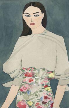"showstudio: ""Carolina Herrera by Kelly Beeman """