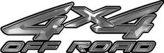 4x4 Off Road ATV Truck or SUV Decals in Silver