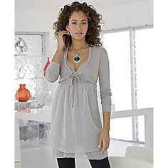 Knit Tunic, Layered Crinkle