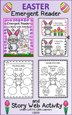 """This product includes a mini-book """"Bunny, Bunny, What Do You Like"""" along with clip art and picture labels to create a class story web. There a simple repetitive text and pictures for children to color. Little ones can read the booklet together with adult guidance. The clip art pictures can be used to create a story web and to practice retelling the story."""