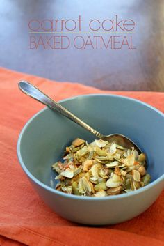 Carrot Cake Baked Oatmeal: An easy way to jazz up your oatmeal routine. Contains no refined sugar. Gluten-free and dairy-free.
