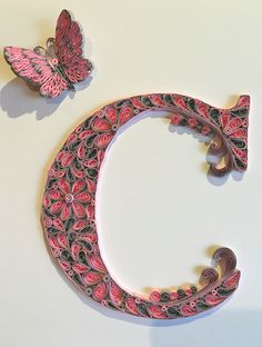 Letter C in quilling made by Juanita Siebenberg