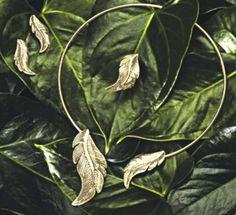 #leaf #folha #autumn #outono #acessorios #necklace #colar #oriflame #vintage