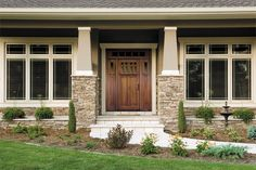 Wood entry doors make a memorable first impression. Their unsurpassed craftsmanship and extensive design options add natural warmth and beauty, enhancing the look and feel of your home.