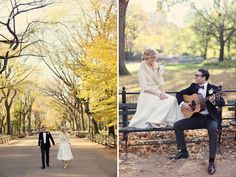 central park - I wish Wayne and I could go back and do this in our wedding garb!!!