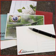 Nicht nur an Geburtstagen oder Feiertagen verschicken wir Postkarten. Selbst gestaltete Karten lassen sich immer verschicken. www.printmanege.de/Postkarten