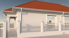 Proiect casa rezidentiala Corbeanca 3 – Profile Decorative Village House Design, Village Houses, Building A Shed, Design Case, House Plans, Garage Doors, Exterior, How To Plan, Outdoor Decor