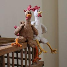 Ravelry: Chicken Chicken Chicken pattern by Emily Ivey Selberg Selberg Selberg Selberg Rohn-Penn. Aren't chickens holidays? Knitting Projects, Crochet Projects, Knitting Patterns, Sewing Projects, Crochet Amigurumi, Crochet Toys, Knit Crochet, Chicken Pattern, Crochet Chicken