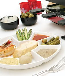 Traditional Swiss raclette makes a wonderful meal for family and friends and is best enjoyed with a light white wine.