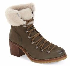 Steve-Madden-Huck-Olive-Genuine-Nubuck-Faux-Fur-Lace-Up-Bootie-7M-MSRP-178