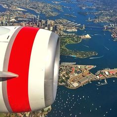 A fine view of the harbour city. Beautiful photo over Sydney captured by @danandmoore en route to Brisbane. #sydney #sydneyharbourbridge #sydneyoperahouse #virginaustralia by virginaustralia http://ift.tt/1NRMbNv