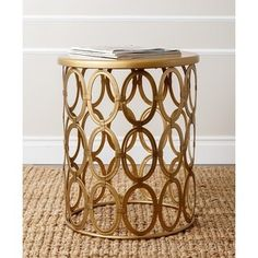 Shop for Abbyson 'Vista' Gold Iron Circles Round End Table. Get free shipping at Overstock.com - Your Online Furniture Outlet Store! Get 5% in rewards with Club O! - 16981725