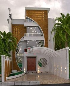 ✔ 39 new modern exterior design ideas for your house 3 > Fieltro. Modern Exterior House Designs, Unique House Design, House Front Design, Minimalist House Design, Modern House Plans, Exterior Design, Home Design, Bungalow Haus Design, Duplex House Design