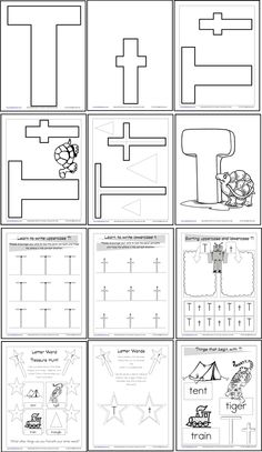 NO PREP Letter of the Week T {FREE} 12 Letter T activities plus a ...