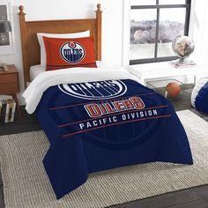 Edmonton Oilers Draft Twin Comforter Set by Northwest, Multicolor
