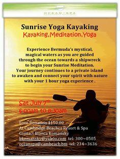Sunrise Yoga Kayaking - Saturday 7th July 2012