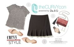"""Celebrate Your Shape: Curvy Style"" by blacksky000 ❤ liked on Polyvore featuring FOSSIL, contestentry, TheCurvyCon and MyDiaStyle"