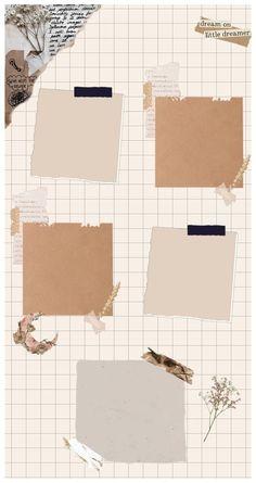 Paper Background Design, Powerpoint Background Design, Cute Patterns Wallpaper, Aesthetic Pastel Wallpaper, Birthday Post Instagram, Instagram Frame Template, Photo Collage Template, Birthday Template, Aesthetic Template
