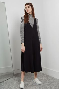 Polly Ponte Jumpsuit by Great Plains Modest Winter Outfits, Stylish Work Outfits, Modest Fashion Hijab, Fashion Dresses, Trousers Women Outfit, Tent Dress, Girl Hijab, Mode Hijab, Overall Dress