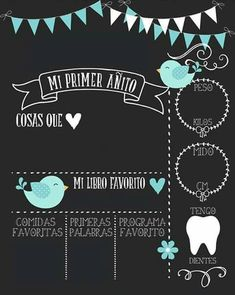 Mi primer añito Baby Shower Deco, Baby Boy Shower, First Birthday Posters, Diy Bebe, Baby Shawer, Fiesta Party, Baby Scrapbook, Baby Party, Baby Birthday