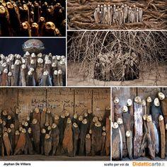 las esculturas animistas de Jephan De Villiers
