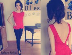 Reina's Reign: 80s Top to Backless Blouse DIY