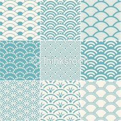 Arte vectorial: seamless ocean wave pattern