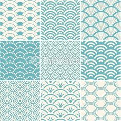 Arte vectorial: seamless ocean wave pattern