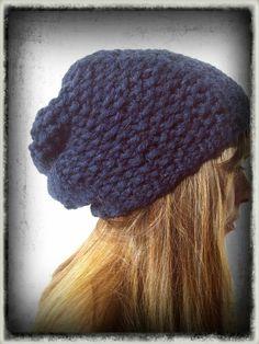 cappello blu lana alpaca