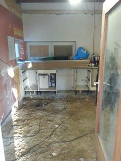 Kitchen without floor